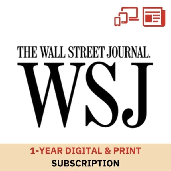 1 Year WSJ Digital and Print Subscription