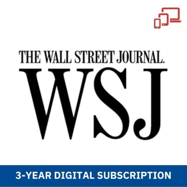 WSJ 3 Years Digital Subscription