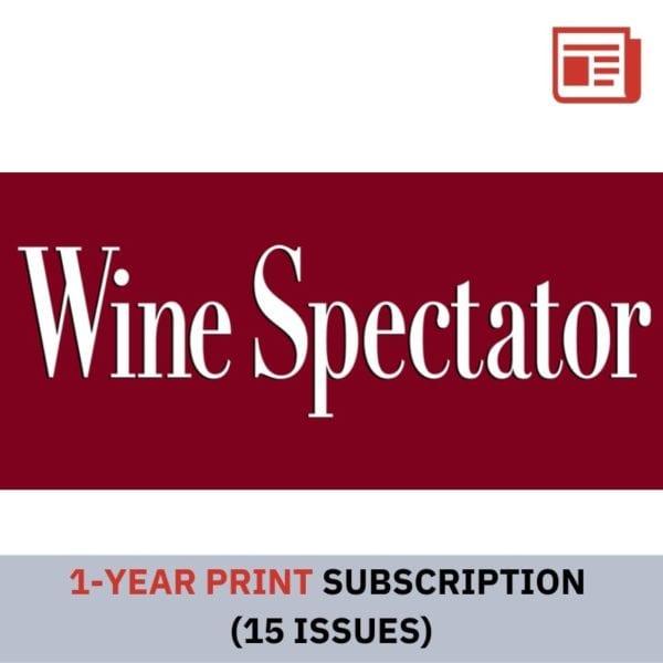 Wine Spectator 1 Year Print Subscription