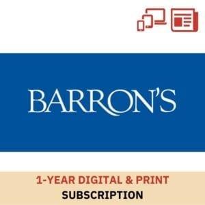 Barron's 1 Year Digital & Print Subscription